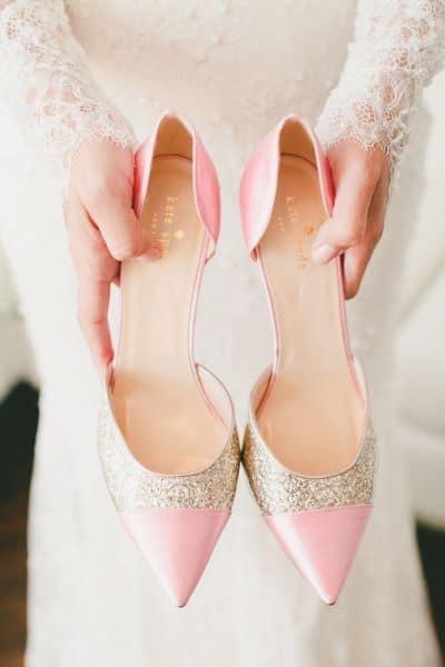 Dica de sapatilha para noiva que ama rosa