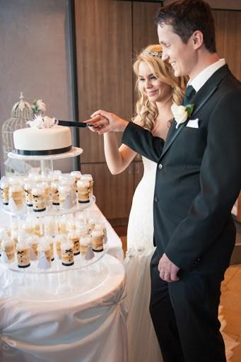 Exemplo de bolinho no pote no casamento