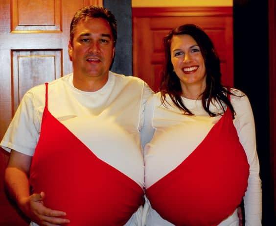 Fantasias para gravidas com blusa de sutiã