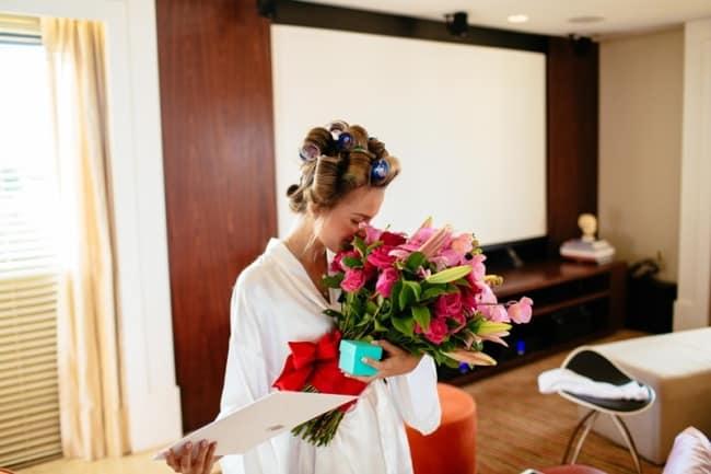 Flores sempre emocionam as noivas