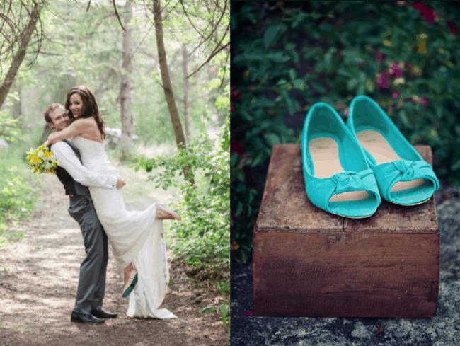 Ideias de sapatilhas para a noiva usar