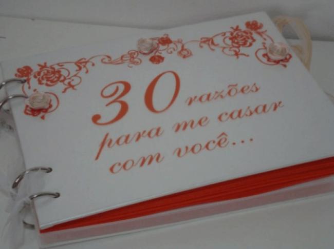 Livro personalizado para presentear a noiva