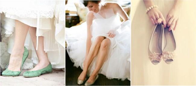 Looks de noivas com sapatilhas baixinhas