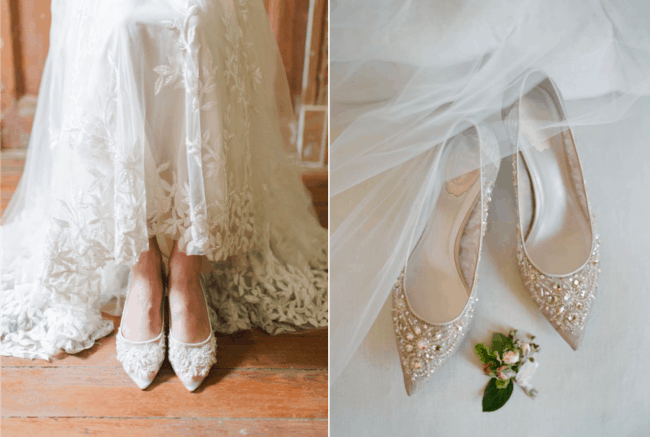 Noivas também podem usar sapatilhas