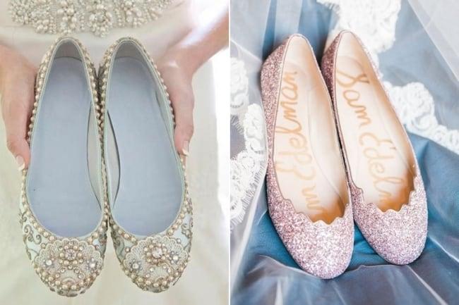 Podem ser sapatilhas com brilho para usar no casamento