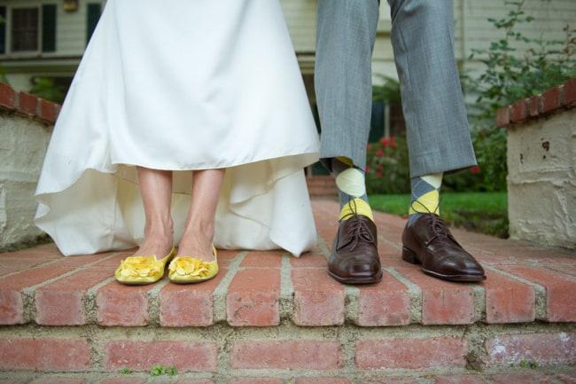 Sapatilha amarela para noivas