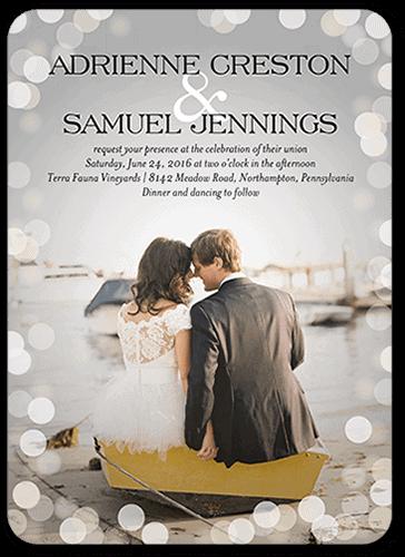 convites de casamento casal no barco