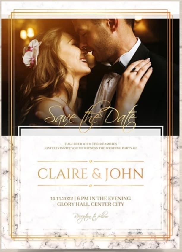 convites de casamento com foto beijo