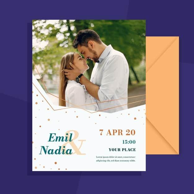 convites de casamento com foto como fazer