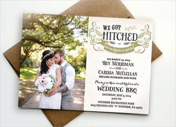 convites de casamento com foto e envelope madeira