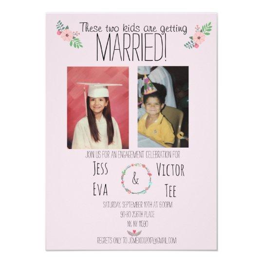 convites de casamento com fotos dos noivos criança 1