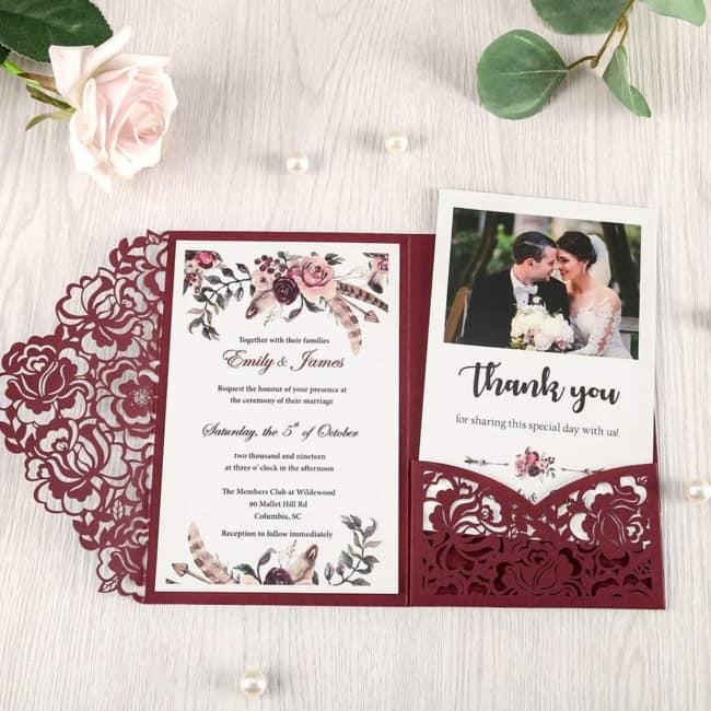convites de casamento envelope trabalhado