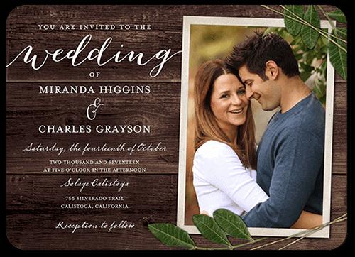convites de casamento fundo madeira
