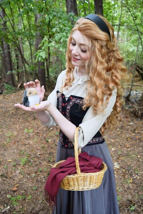 fantasia de camponesa tradicional com corpete