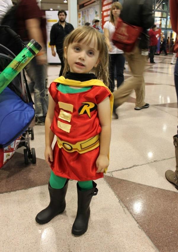 fantasia do Robin infantil corrida