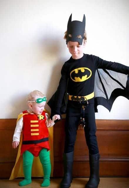 fantasia do robin e do batman para crianças
