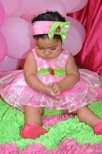 fantasia moranguinho baby rosa