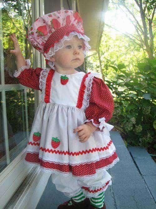 fantasia moranguinho baby vestido