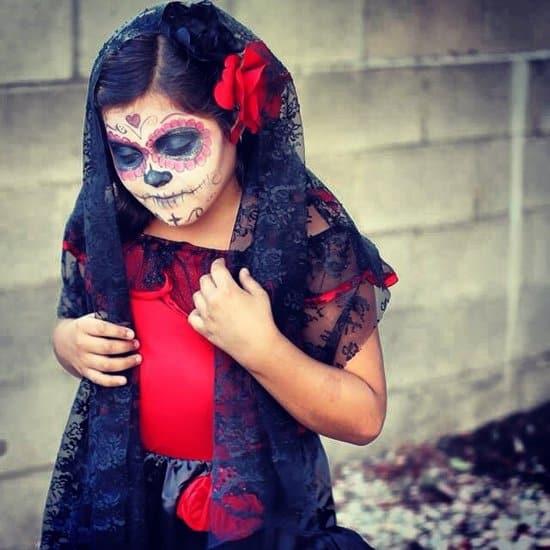 fantasia de caveira mexicana infantil