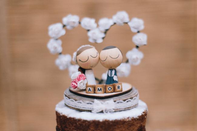 topo de bolo rústico para casamento