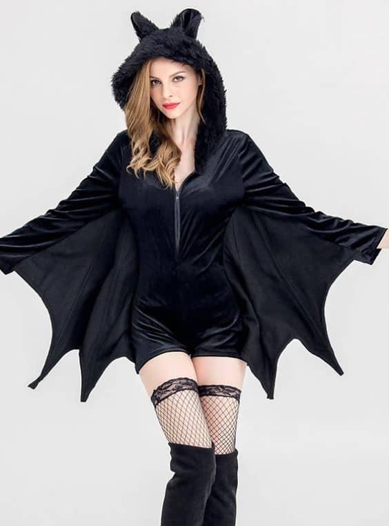 modelo de fantasia feminina de morcego