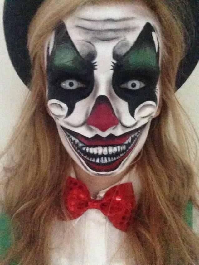 maquiagem feminina assustadora para halloween