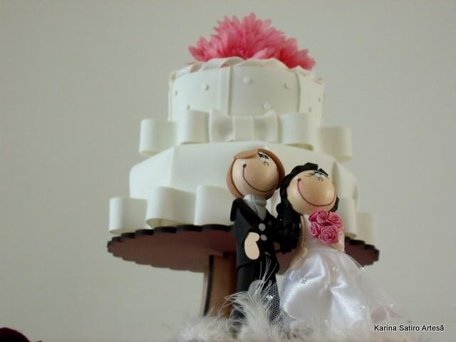 topo de EVA para bolo de casamento