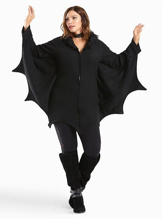 fantasia feminina com asas de morcego