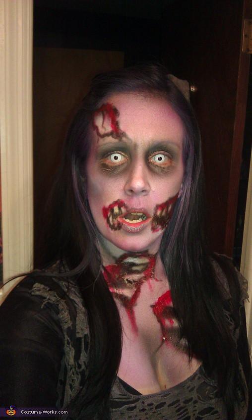 maquiagem assustadora para fantasia de halloween
