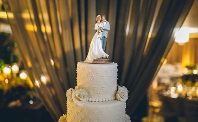 noivinhos clássico para bolo de casamento
