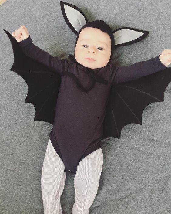 fantasia de bebê com asas para halloween
