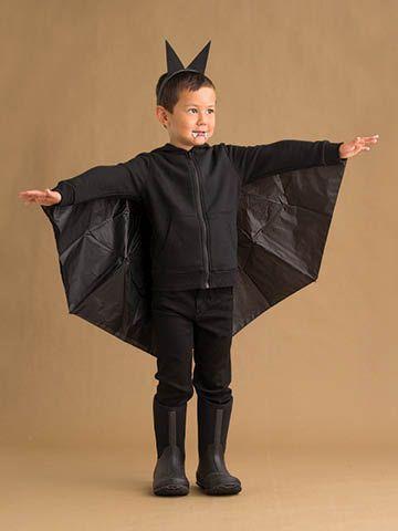 fantasia de morcego infantil com roupa preta