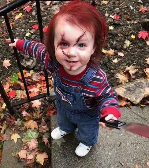 fantasia infantil de boneco assassino