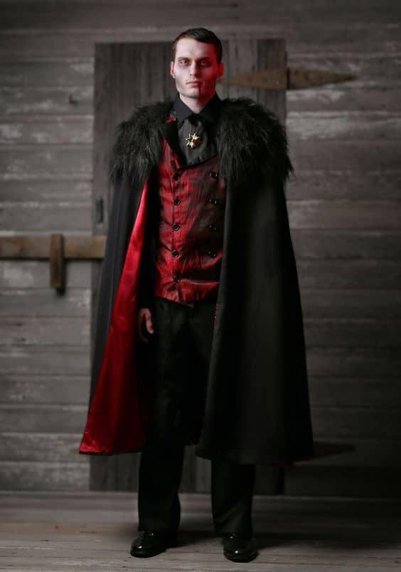 fantasia de vampiro masculina
