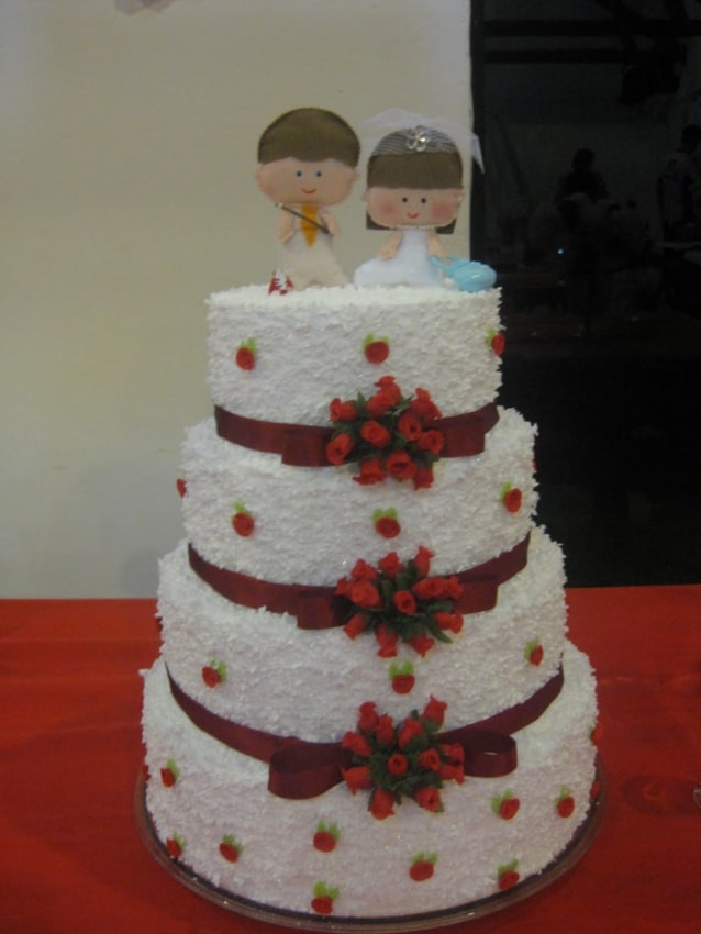 topo de bolo em feltro para casamento