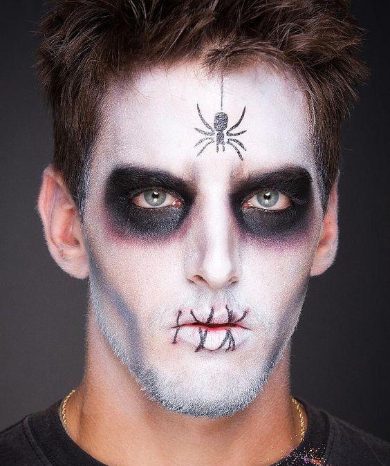 maquiagem de halloween para homem