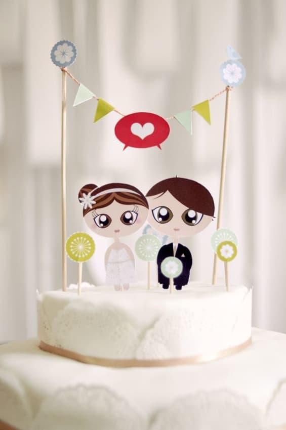toppers de noivinhos para bolo de casamento