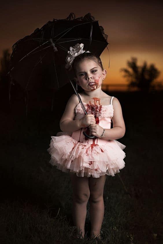 fantasia de halloween assustadora para menina