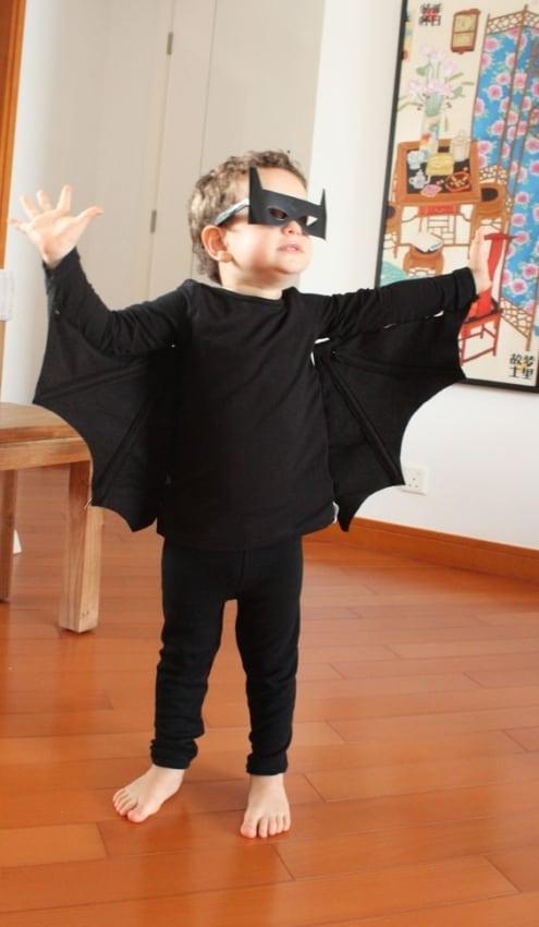fantasia de morcego para criança