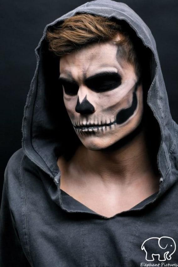 maquiagem masculina assustadora para fantasia