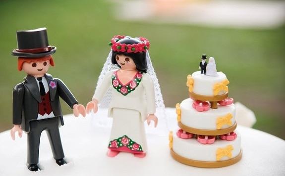 noivinhos de lego para topo de bolo