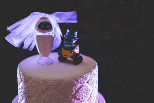 noivinhos geek para bolo de casamento