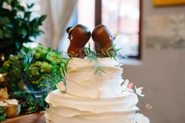 topo diferente para bolo de casamento