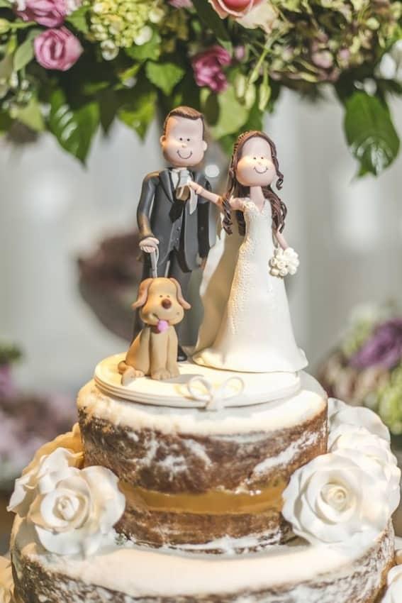 enfeite de bolo de biscuit para casamento