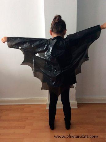fantasia de halloween improvisada para criança