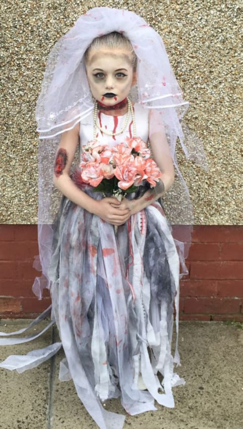 fantasia infantil de noiva cadáver