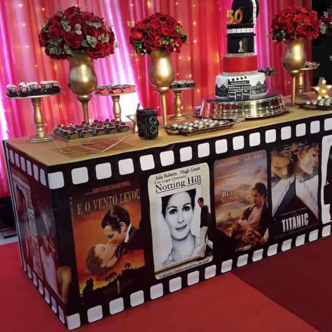 festa de adulto com tema filmes