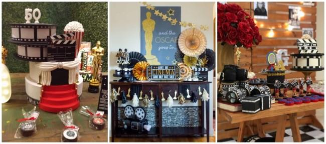 decoração de festa cinema e Hollywood