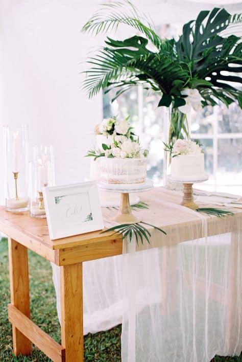 cores neutras para decoração de casamento minimalista
