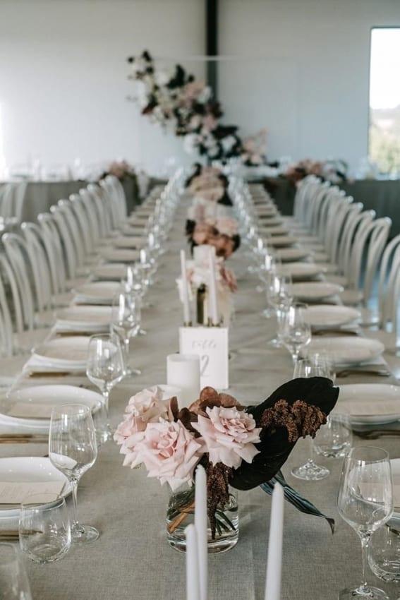 cores para decoração minimalista de casamento